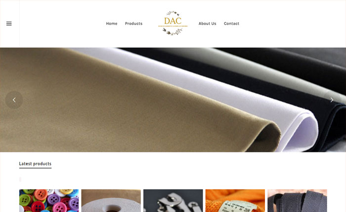 Website for Cloth Accessories Manufacturer