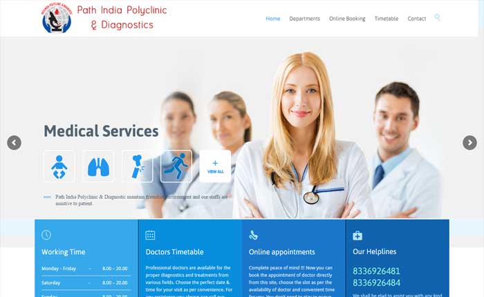 Website for Medical Services Provider