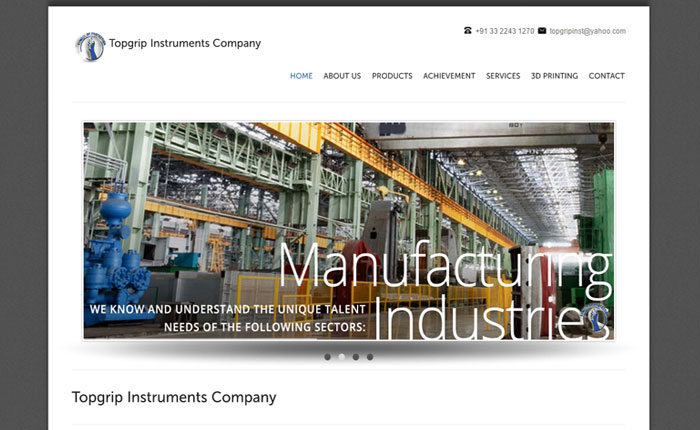 manufacture company website design by OneSolution