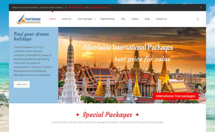 CMS website for tourism sector